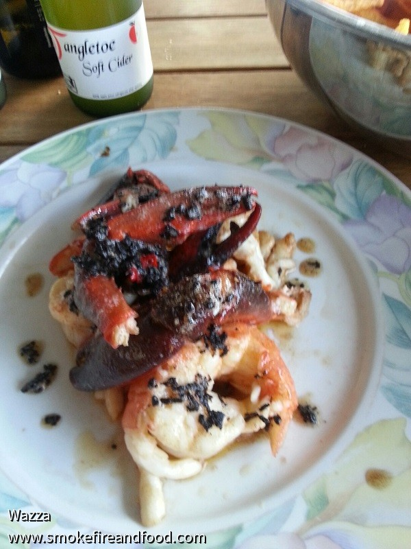 Marron with Truffles in burnt butter sauce