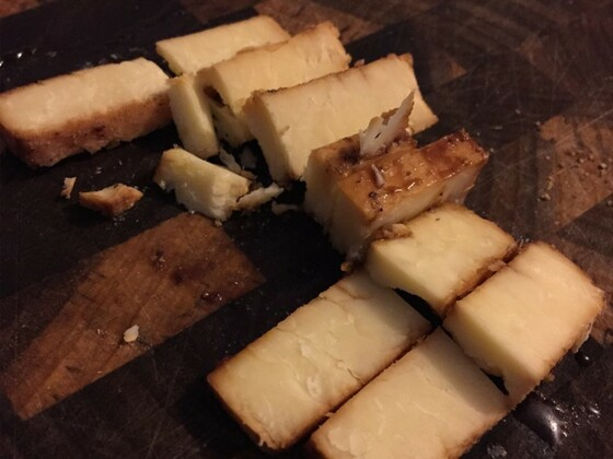 Smoked Cheese with Soy sauce