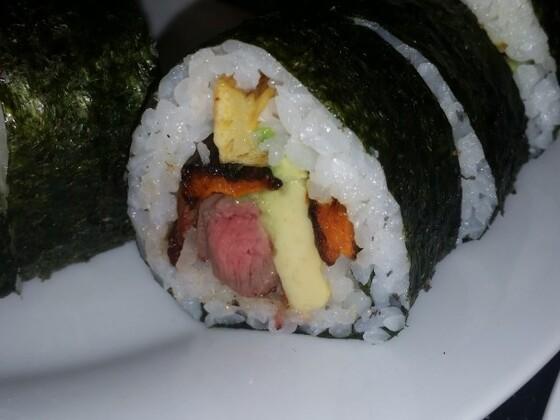 BBQ Steak and horseradish Sushi